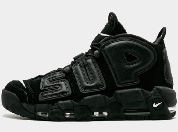 Фото Supreme x Nike Air More Uptempo Suptempo черные - 2